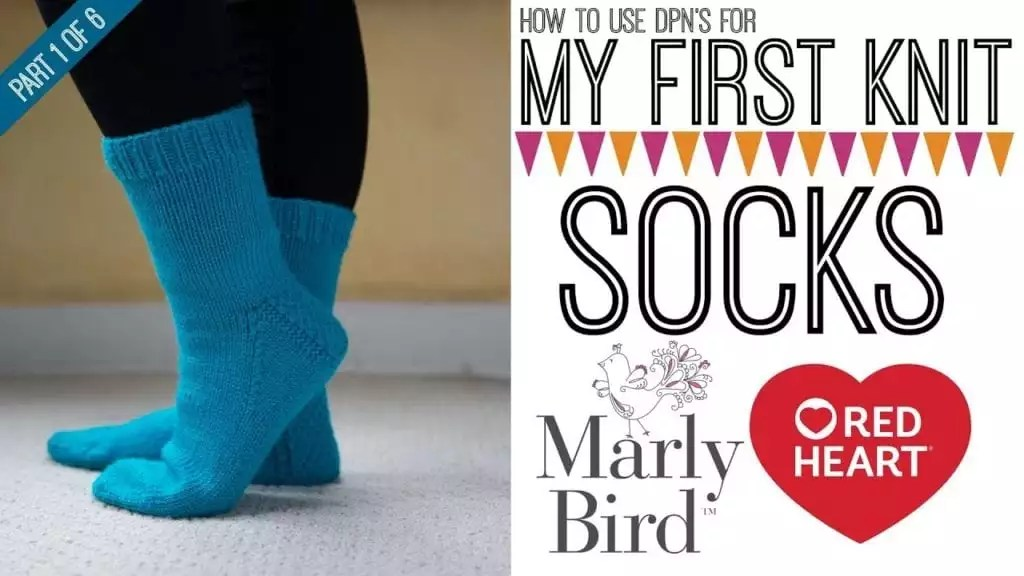 Video Tutorial: My First Knit Socks using DPNs with Marly Bird Part 1 of 6