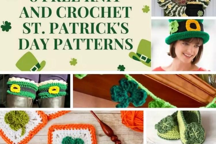8 FREE Knit and Crochet St. Patrick's Day Patterns