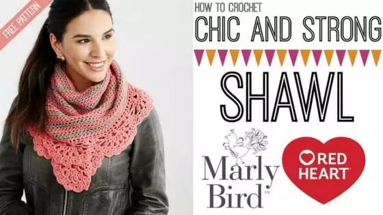 Crochet Video Tutorial with Marly Bird-The Chic and Strong Shawl with Chic Sheep by Marly Bird