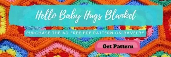 Ad FREE PDF Pattern-Hello Baby Hugs Blanket