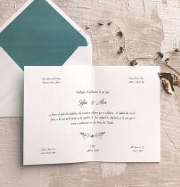 Invitación de boda clásica minimalista Marmarina