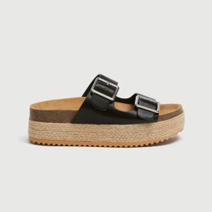 Sandales-style-birkenstock-noire-pullandbear