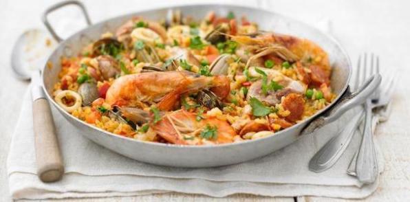 paella arroz valenciana