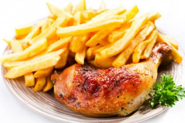 poulet frites sauce barbecue