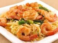 nouilles aux crevettes noddles shrimp