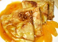 crêpes à l'orange recette