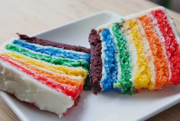 Rainbow cake gateau arc en ciel