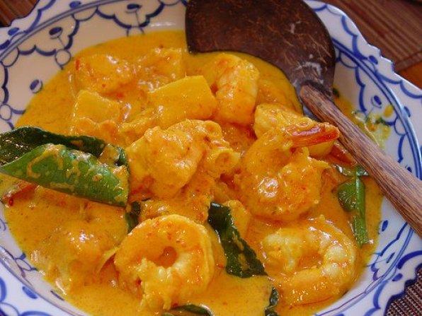 curry de crevettes au lait de coco recette