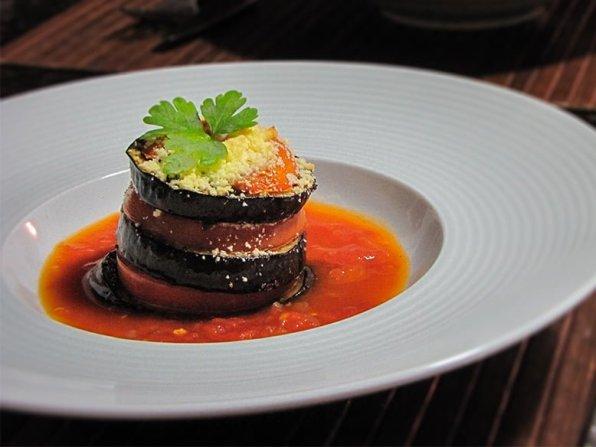 mille feuille d'aubergines au chevre recette
