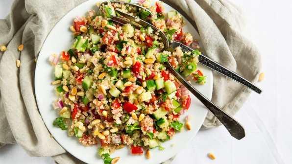 quinoa en salade et petits legumes facile