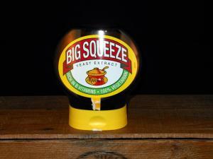 400g Squeezy Marmite Jars (Close-up)