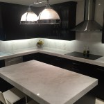 Mystery White Marble Slab Kitchen Countertop 1