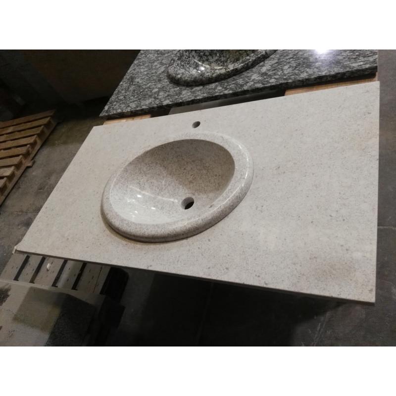 Encimera y lavabo Granito Blanco pulido  Marmolissimocom