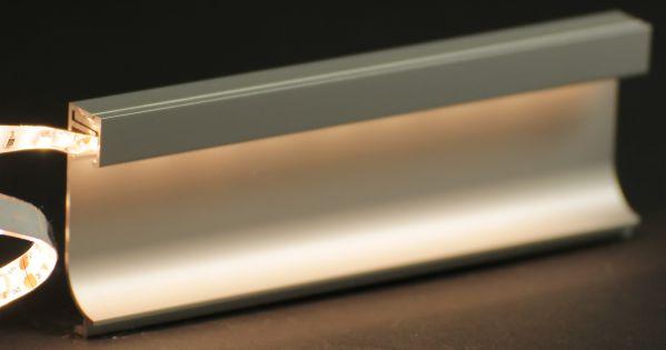 LED fr direktes  indirektes Licht Aluschiene fr LED Sockelbeleuchtung 35mm ohne