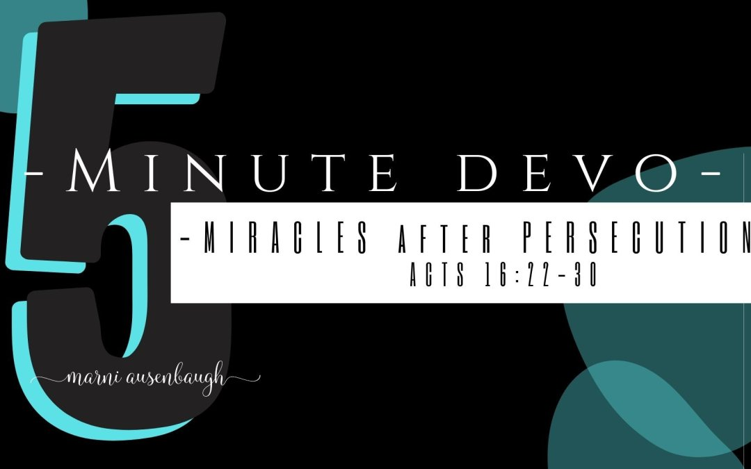 5 Minute Devo- Don't Bail To Quick