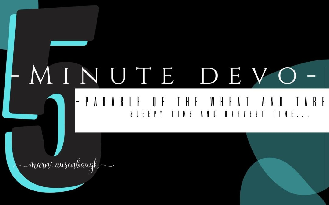 5 Minute Devo- Sleepiness and Harvest Time