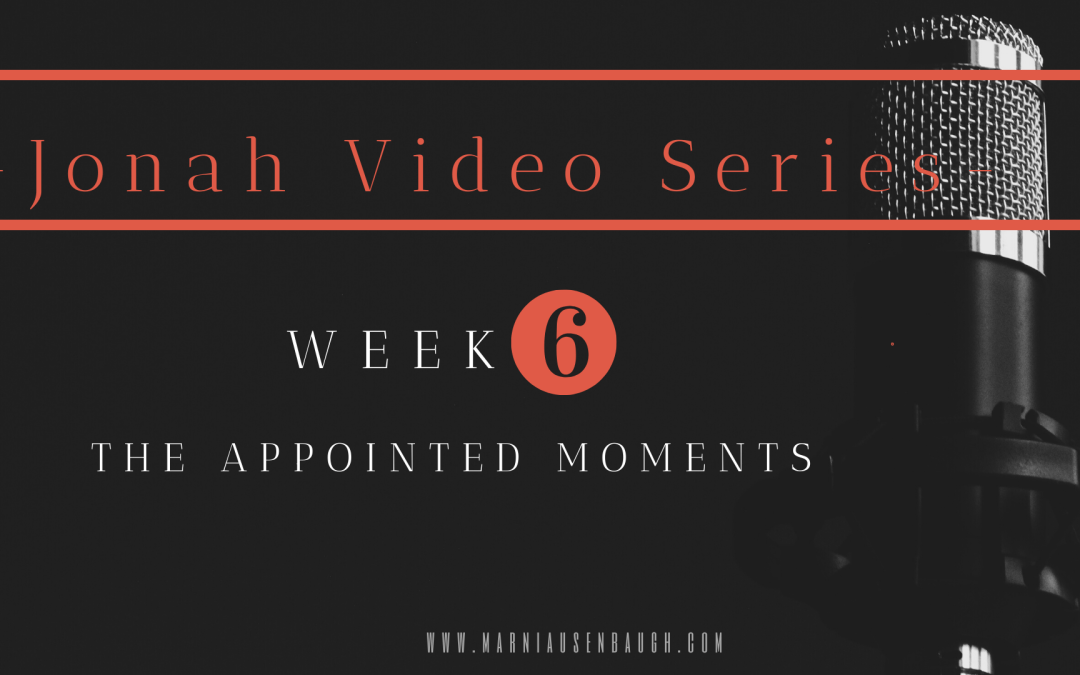 The Jonah Series-Week 6 The Appointed Moments