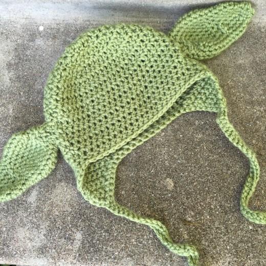 Crochet Baby Yoda Hat