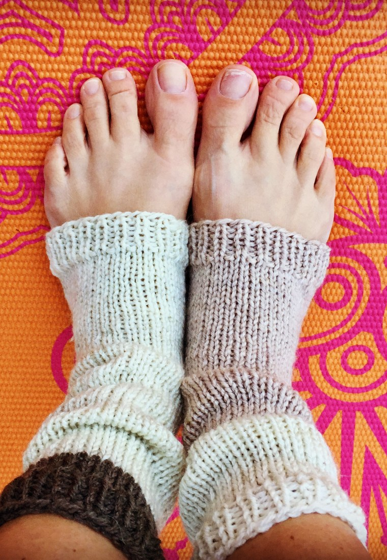 Knitted Yoga Socks