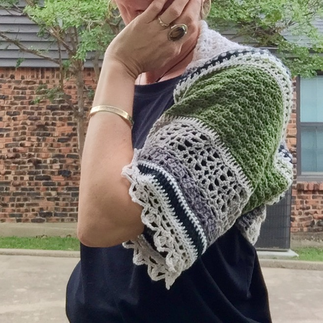 Crocheted Monsoon Shrug
