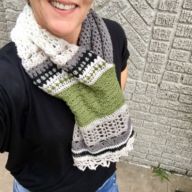 Crocheted Monsoon Shrug as a Cowl
