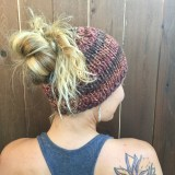 Messy Bun Hat Chunky Knitting Pattern