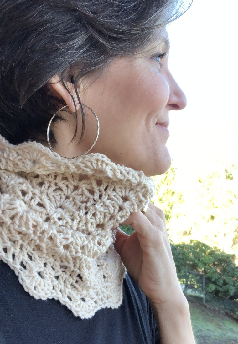 The Cardiff Cowl crochet pattern by Lion Brand