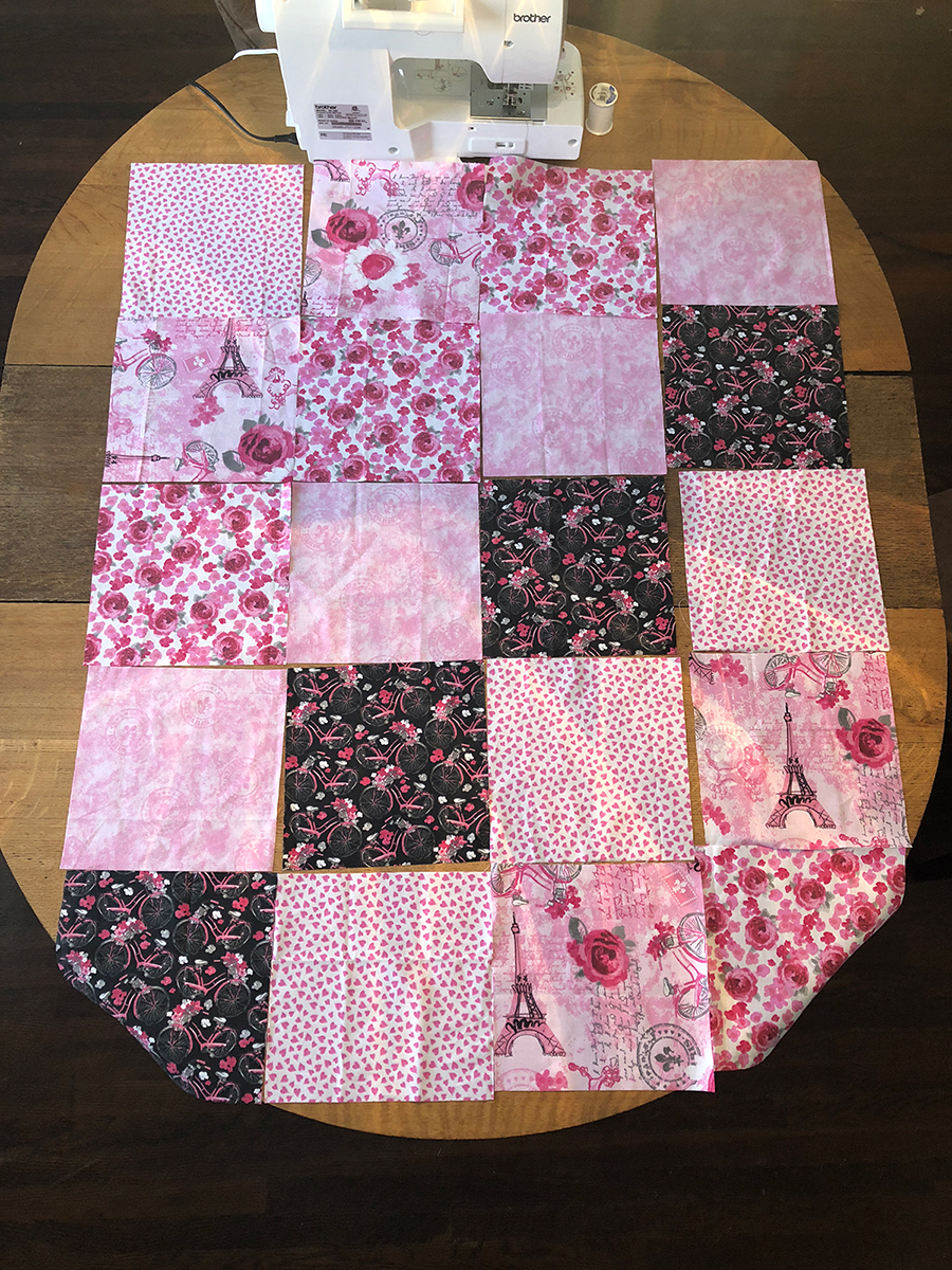 Baby Rag Quilt Assembly