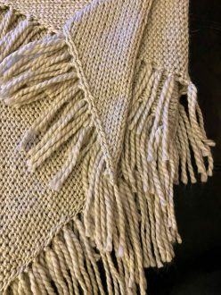 Self Fringing Shawl with yarn from KnitCrate