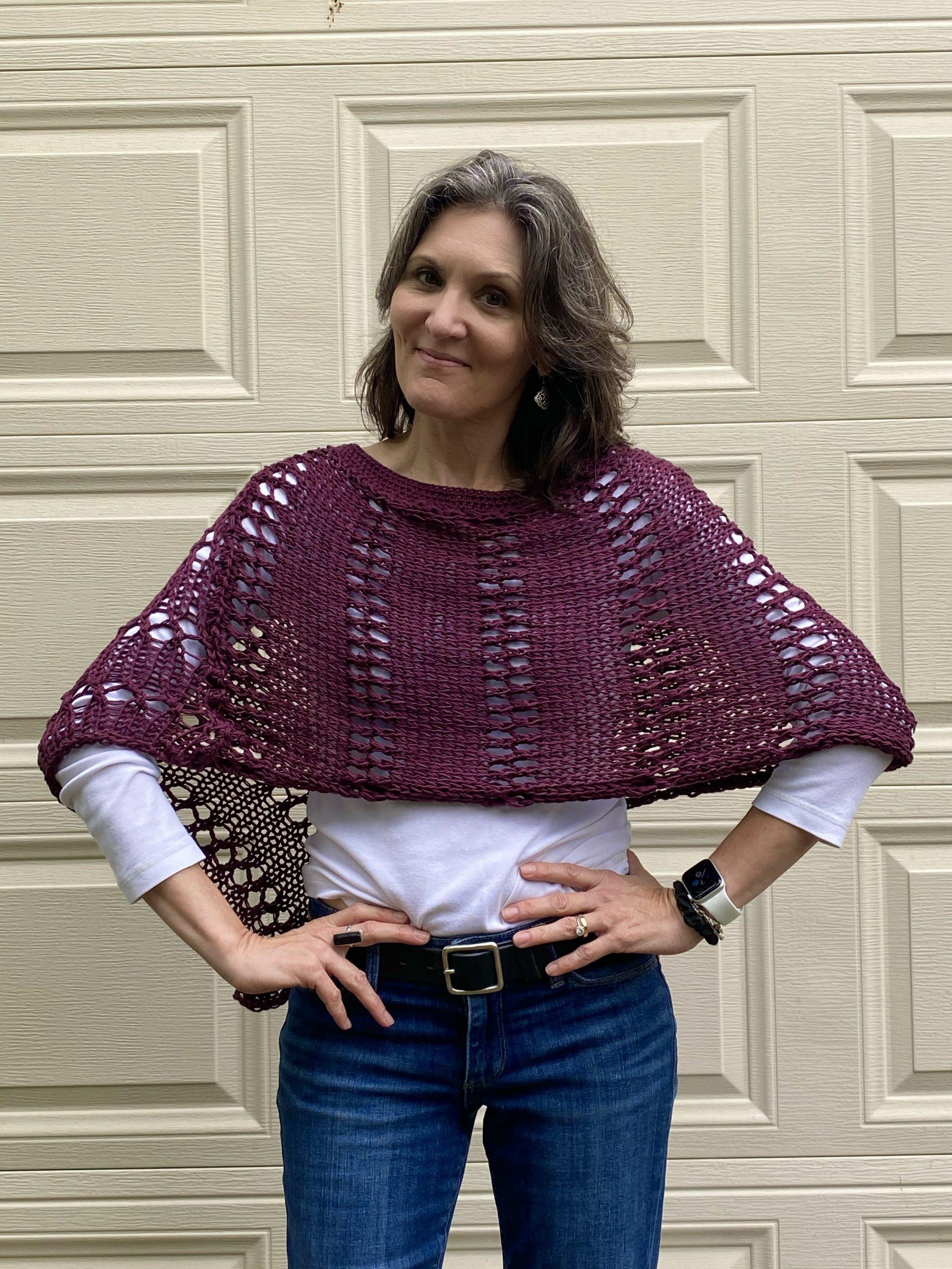 Aveline Poncho Knitting Pattern by Petra Breakstone