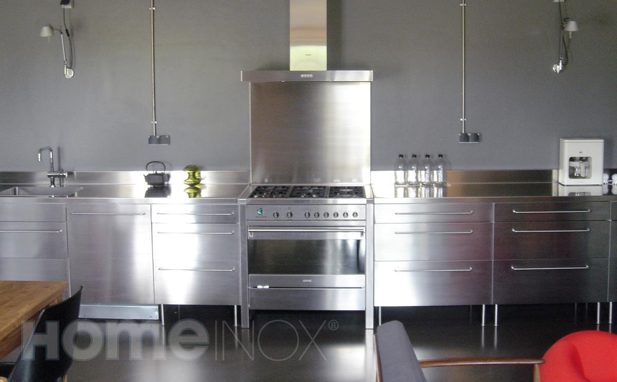 meuble inox cuisine hotelfrance for meuble cuisine inox brosse ... - Meuble Cuisine Inox Brosse