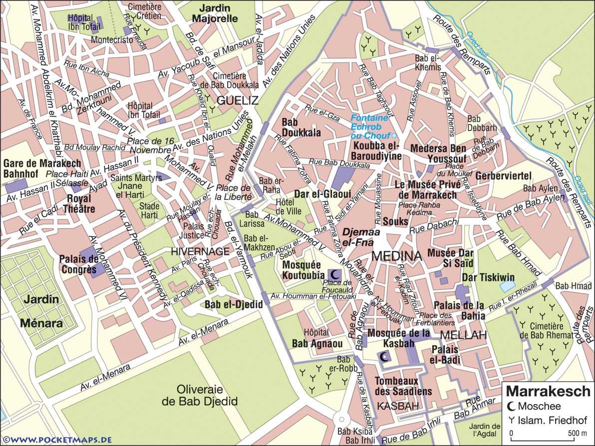 Marrakesch Stadtplan