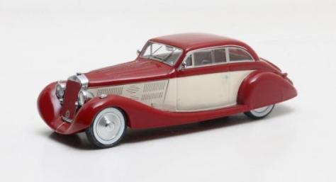 MX50407-011 Delage D8 105S Aerodynamic Coupe maroon and white 1935