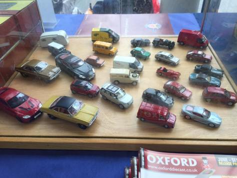 Oxford Diecast Display Cabinet at the Swansea Railway Modelling Show