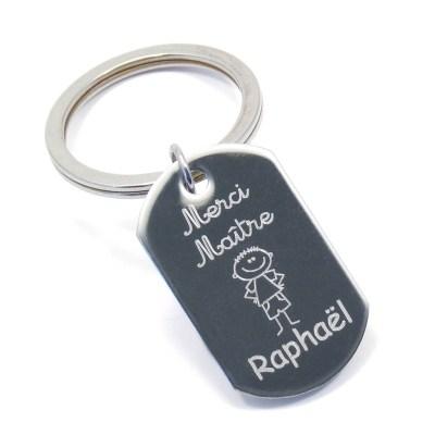 Porte-clés personnalisé «Merci Maître»