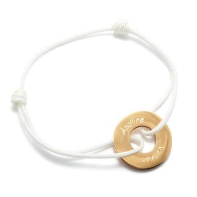 Bracelet personnalisé Rosa doré rose