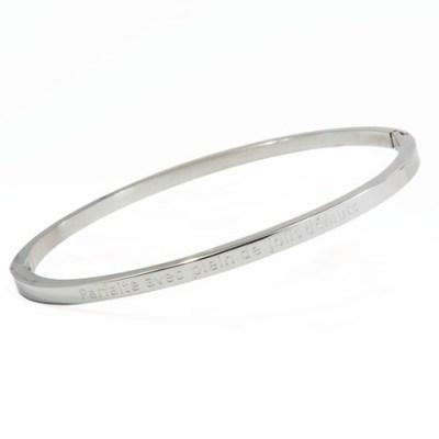 Bracelet jonc «Parfaite avec plein de jolis défauts»