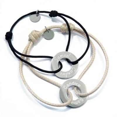 Duo de bracelets rondelles personnalisés