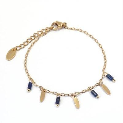 Bracelet navettes et perles bleu roi