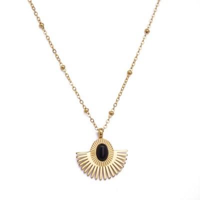 Collier pendentif Aurore noir