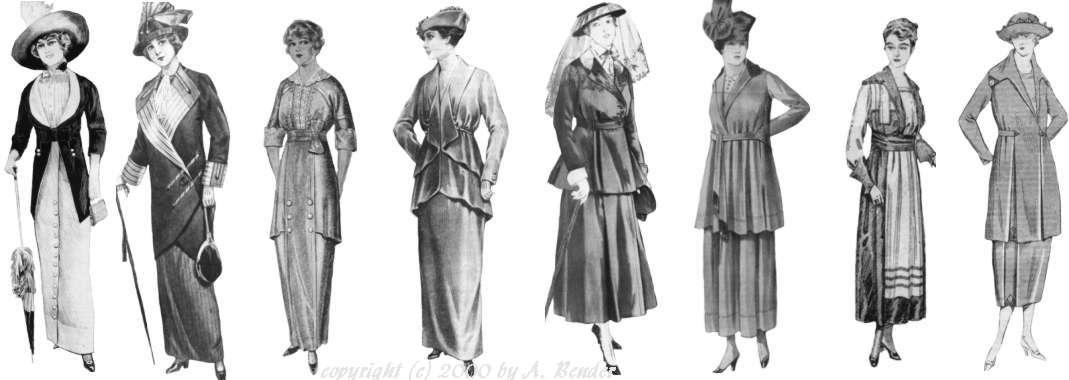 Fashion Change 1910-1919