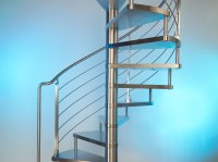 Stainless Steel Spiral Staircase Marretti, Made in Italy