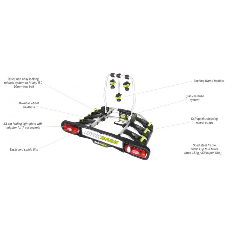 Buzzrack Buzzrunner Spark 3 Tow Ball Platform Bike Carrier