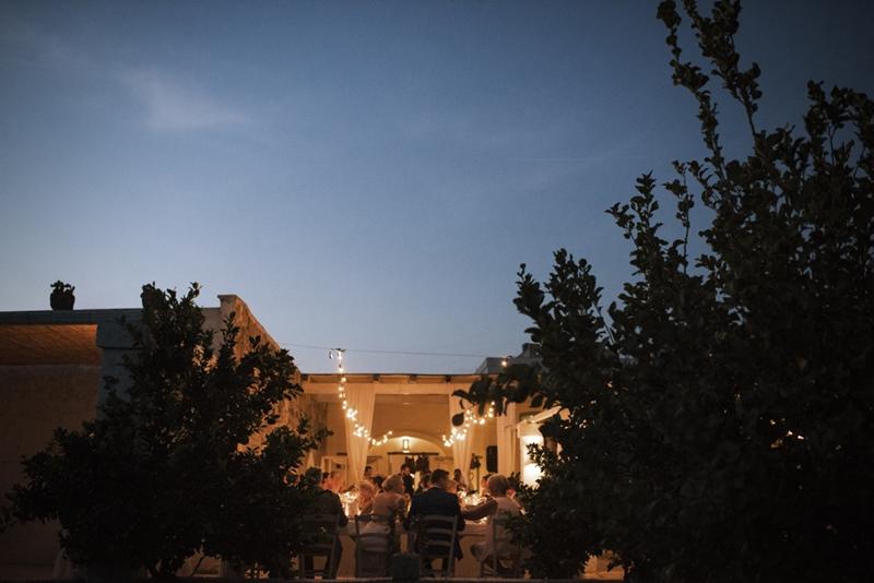 wedding dinner in masseria