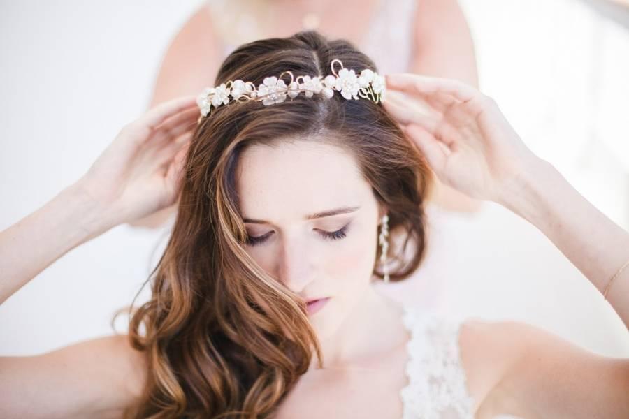 bridal handmade crown
