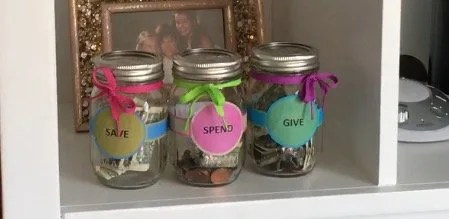 Save Save and Give Jars