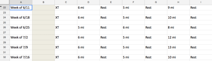 Sample Schedule for Couple's Marathon Training