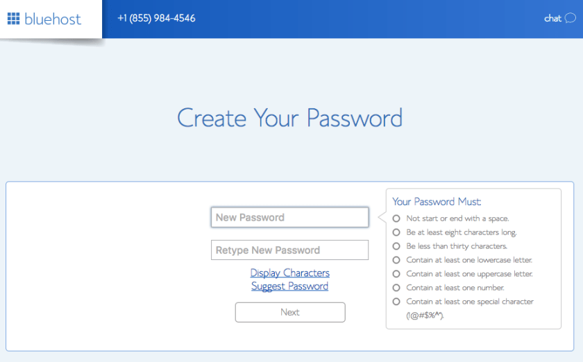 Create Password Bluehost - Marriage, Kids and Money