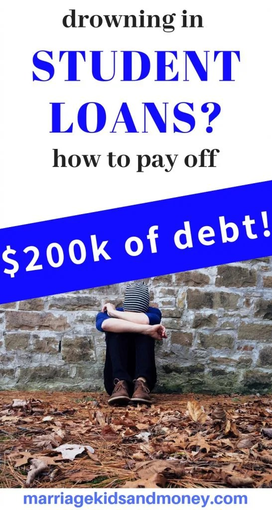 How to pay off student loans. How to handle a mountain of student loans. Debt pay off. Drowning in debt. #debt #money #studentloans #personalfinance