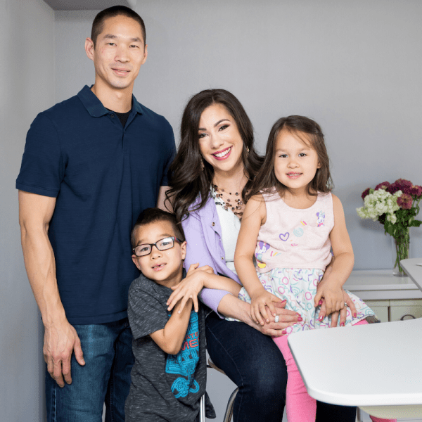 Monica Louie and her family